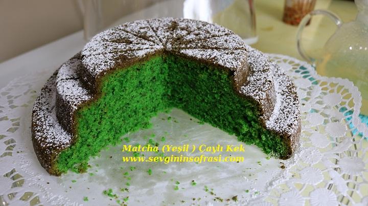 Yeşil Çaylı Kek