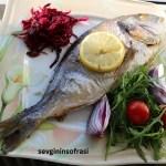 Fırında Çupra Balığı Avokado Soslu