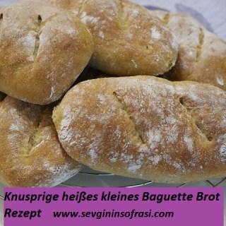 Kleine Baguette-Brot