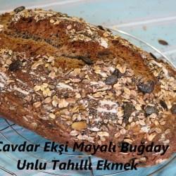 Çavdar Ekşi Mayalı Buğday Unlu Tahıllı Ekmek
