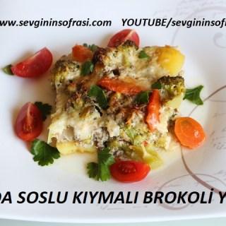 Fırında Soslu Kıymalı Brokoli Yemeği