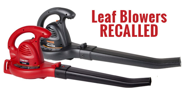 Recall of Troy-Bilt and Remington Electric Leaf Blowers
