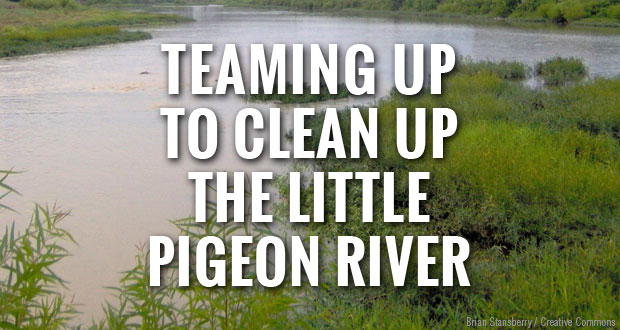 Keep Sevier Beautiful and Smoky Mountain Outdoors team up to clean up the Little Pigeon River