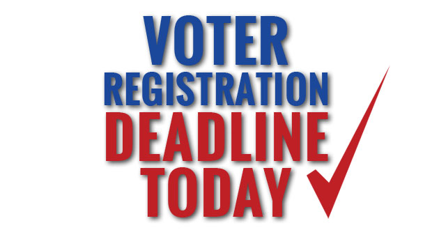 Hurry! Get registered to vote!