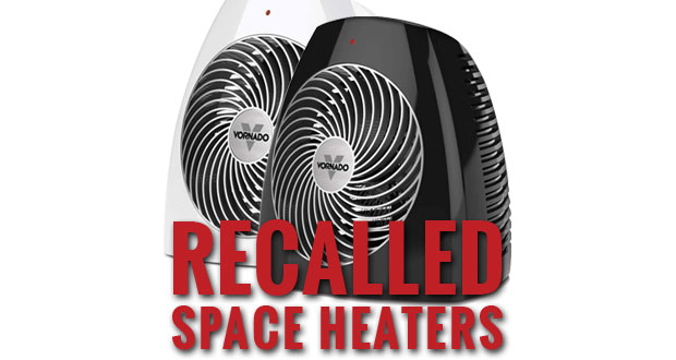 Vornado Whole Room Vortex electric space heaters recalled.