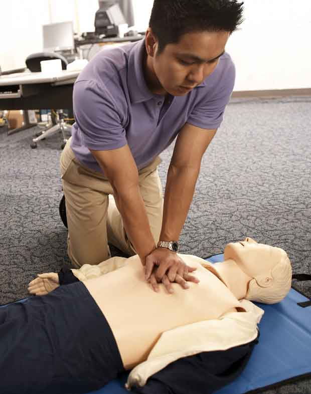 CPR on a dummy