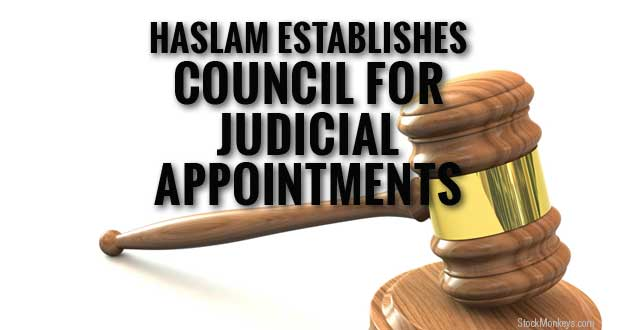 Haslam Issues Executive Order Creating Council for Judicial Appointments