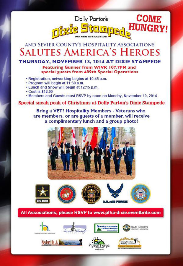 Pigeon Forge Hospitality Salute to Veterans