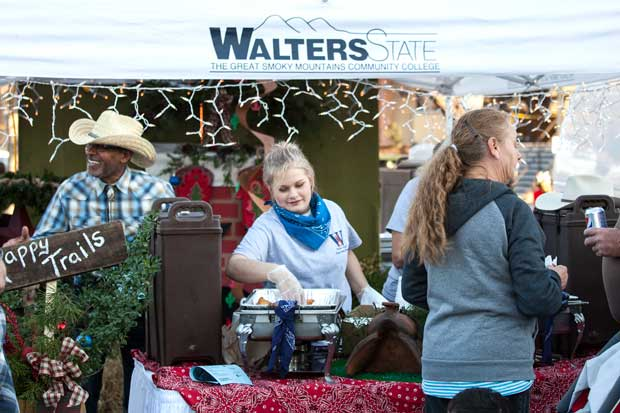 Walters State Community College booth at Smoky Mountain Winterfest in Sevierville