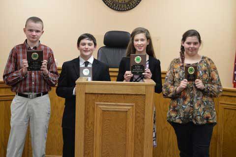Sevier County 4-H Public Speaking Winners