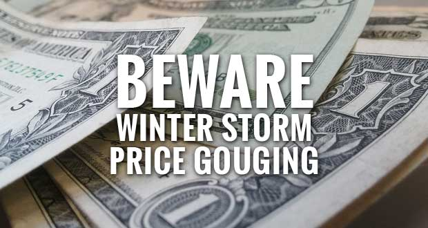 State Regulators Warn Consumers about Price Gouging after Winter Storm
