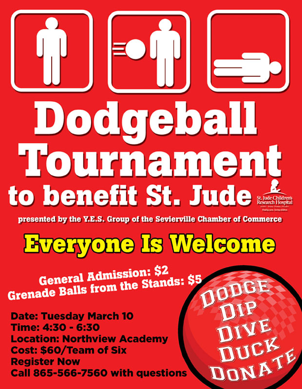 Sevierville Chamber Y.E.S.! Dodgeball Tournament to Benefit St. Jude