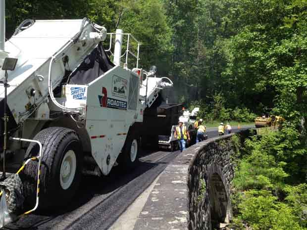 Paving at Cole Creek in Great Smoky Mountains National Park