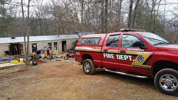Gibson Family Loses Sevierville Home to Fire