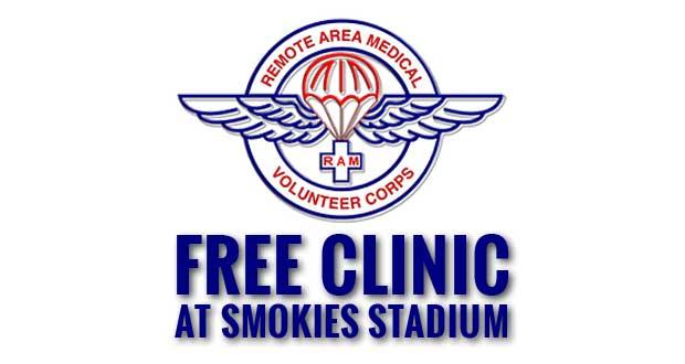 Free Remote Area Medical Clinic at Smokies Stadium