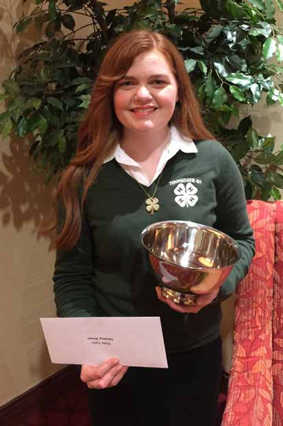 Christy Newsom 4-H member