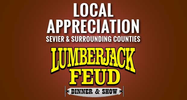 Lumberjack Feud holding Sevier County Days food drive.