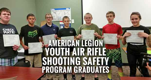 Students Graduate from the American Legion Youth Air Rifle Shooting Safety Program