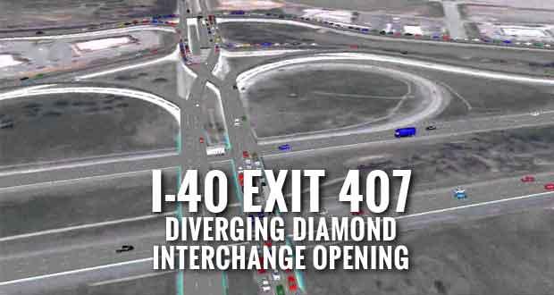 Sevierville I-40 Exit 407 Diverging Diamond Interchange to Open June 30