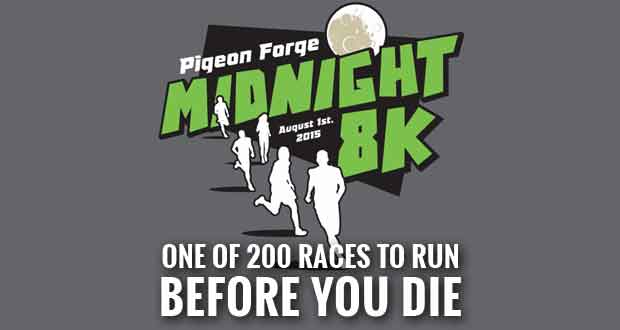 Pigeon Forge Midnight 8K Featured in Book of '200 Races To Run Before You Die'
