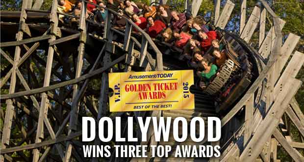 Dollywood Earns Three Golden Ticket Awards