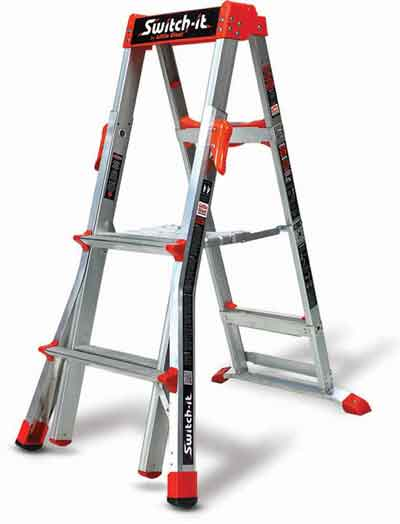 Wing Enterprises Switch-It Stepladder/Stepstools