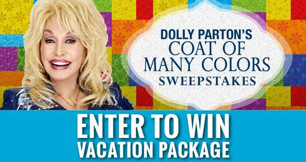 Dolly Giving Away Smoky Mountain Vacation in Coat of Many Colors Sweepstakes
