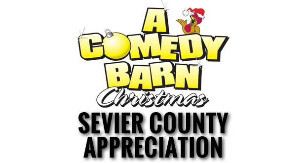 The Comedy Barn Collecting Canned Food and Toys During Sevier County Days