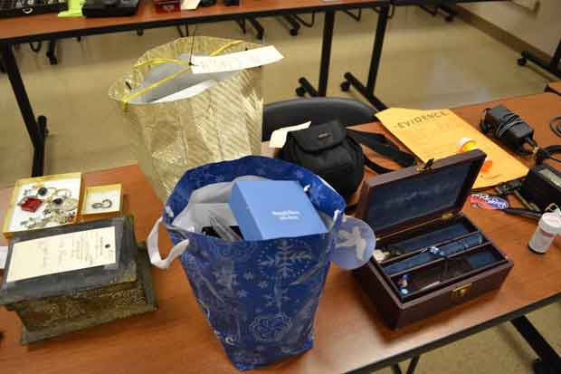 Stolen Items from home burglaries recovered by the Sevier County Sheriff's Office