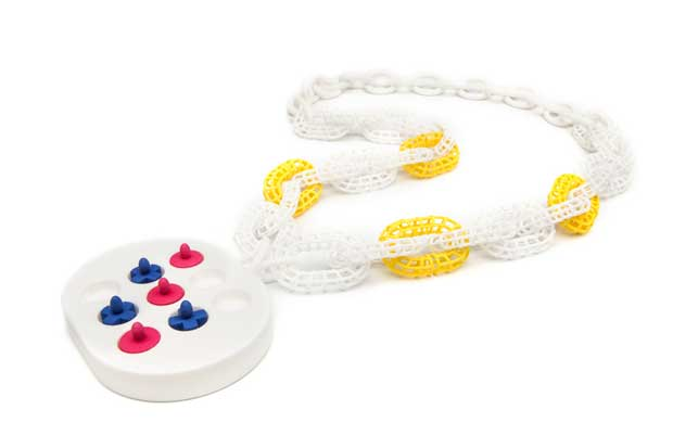 Sunyoung Cheong Tic Tac Toe Necklace at Touch: Interactive Craft: Arrowmont's National Juried Exhibition