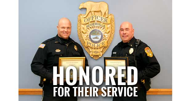 Sevierville Police Department Employees Recognized