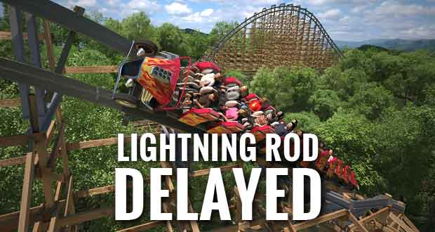 Lightning Rod Roller Coaster Won't Be Ready for Dollywood Opening