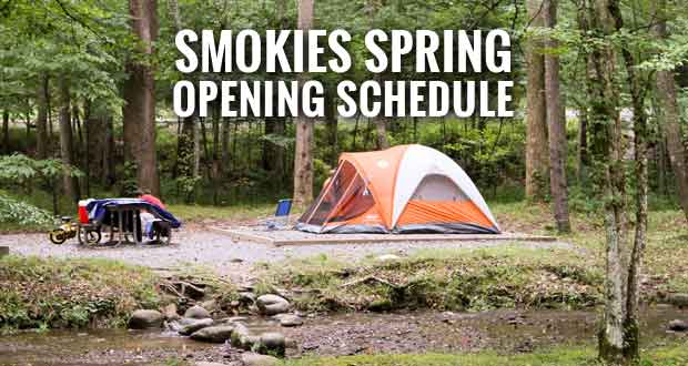 Smokies Spring Opening Schedule for Trails, Roads, Facilities, Camping