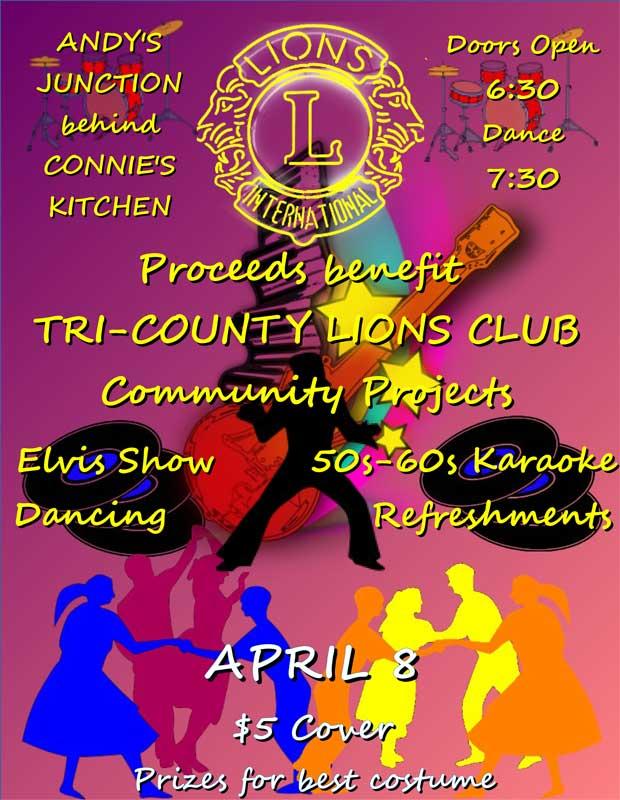Tri-County Lions Club Holding Fundraising Dance & Karaoke
