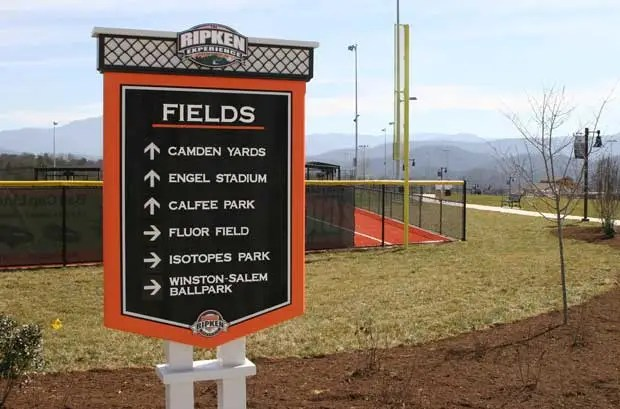 Fields at The Ripken Experience Pigeon Forge