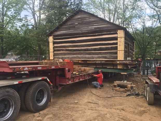Gatlinburg Ogle Cabin loaded for relocation.
