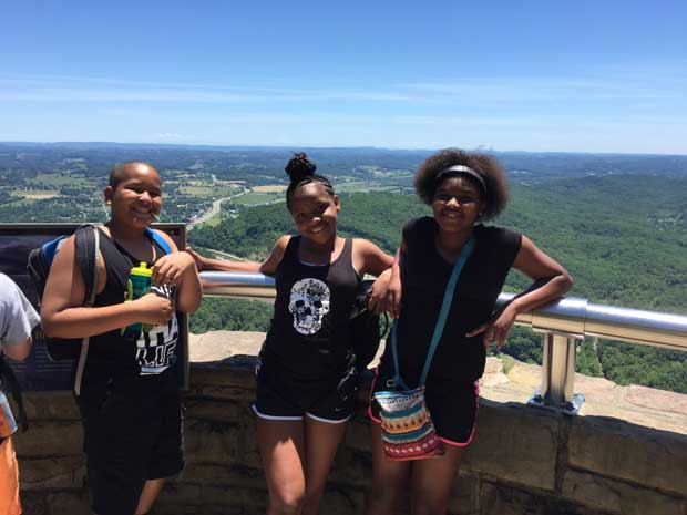 Vestal Boys and Girls Club takes in the scenery at Cumberland Gap National Historical Park. NPS Photo.