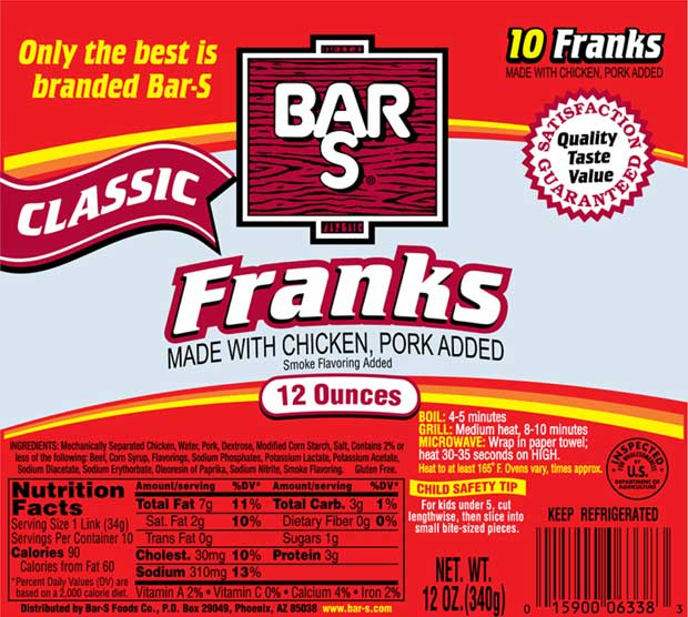 Bar-S Franks Recalled