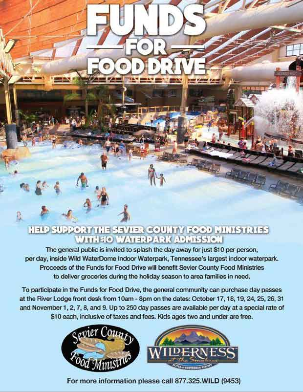 Wilderness at the Smokies hosts Funds for Food Drive Event