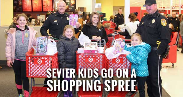 Fifty Sevier County Kids Shop with a Cop at Target