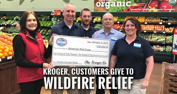 Kroger Campaign Raises $230K for Red Cross Wildfire Disaster Relief