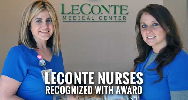 LeConte Nurses Given Silver Lamp Award, Scholarship for Continuing Education