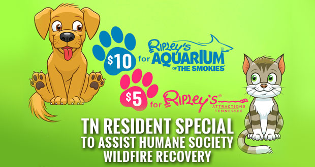Ripley's Tennessee Resident Special to Benefit Animal Shelters