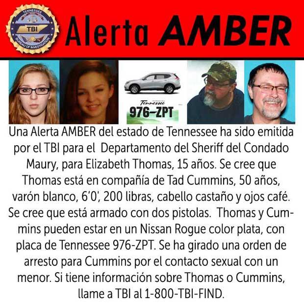 Elizabeth Thomas Amber Alert Spanish