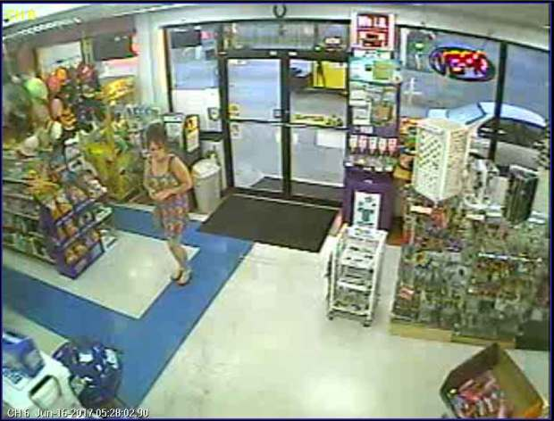 A white female requested to use the restroom just prior to the armed robbery of J's Market in Sevierville.