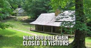 Noah Bud Ogle Cabin and Nature Trail Closed for Tree Removal