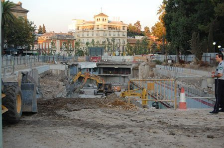 Obras del Metro de Sevilla