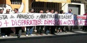 Los Policías Locales de Alcalá de han manifestado en varias ocasiones ante el