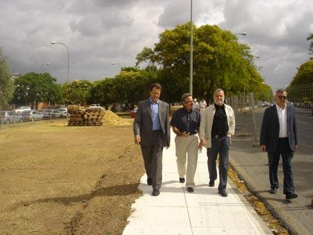Las obras en la zona del Palacio de Congresos -FIBES- y el Polígono Aeropuerto forman parte del Fondo Estatal de Inversión Local