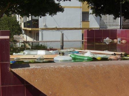 Estado de las instalaciones deportivas de la barriada de La Paz
